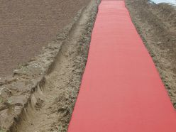 Red Embossed Plastic Mulch